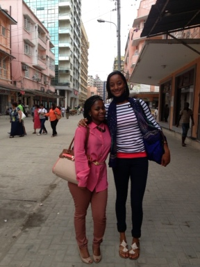 Sante and I in Downtown Dar Es Salaam